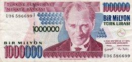 TURKEY 1000000 LIRA 1999 P-213a.2  CIRC. - Turkey