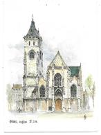 80 - AMIENS - église St Leu - Aquarelle Originale De Robert LEPINE - Ed. Yvon N° 15 80 0020 - Amiens
