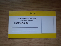 Volleyball Federation Yugoslavia The Official Ticket For All Volleyball Matches - Toegangskaarten