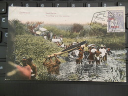 SUR CARTE ZAMBEZIA ZAMBEZE MACHILLEIROS TRAVELLING OVER THE COUNTRY 9 OCT 1920 LOURENCO MARQUES' STAMP - Lourenco Marques
