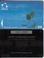 SOLOMON ISL.(GPT) - Canoe Padding Sikaiana/Malaita Province, Large CN : 03SIE, Used - Salomon