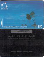 SOLOMON ISL.(GPT) - Canoe Padding Sikaiana/Malaita Province, Small CN : 03SIE, Used - Salomon