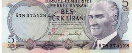 TURKEY 5 LIRA 1970 P-185  UNC - Turkey