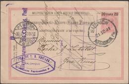 Levant Autrichien 1901. Entier Postal Oblitéré Salonique. Pour Gera - Oostenrijkse Levant