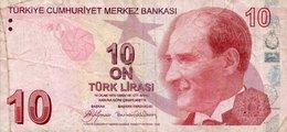 TURKEY 10 LIRA 2009 P-223a  CIRC. - Turkey