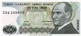 TURKEY 10 LIRA 1979 P-192a.2  Unc - Turkey