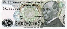TURKEY 10 LIRA 1982 P-193a.1  Unc - Turkey