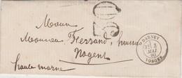 Enveloppe 3 Mai 1880 / Beau Cachet De Darney 88 Vosges / Taxe 30 / Exp Lentretien Huissier à Darney - Marcophilie (Lettres)