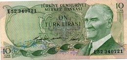 TURKEY 10 LIRA 1966 P-180a.2  Xf+aunc - Turquie