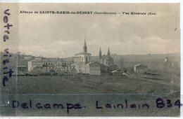 - ABBAYE  De Sainte Marie De Désert, Bellegarde, Vue Générale, Est , ( H.- Garonne ), écrite, 1923, TTBE, Scans. - France
