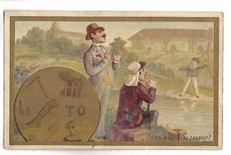 CHROMO - CHOCOLAT IBLED - Ou Est Le Bateau Du Passeur ? Calendrier 1895 - Ibled