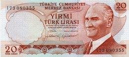 TURKEY 20 LIRA 1983 P-187b  Unc  Serie I73 080355 - Turquie