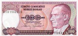 TURKEY 100 LIRA 1983 P-194a.1  Unc  Serie A70 704315 - Turquie