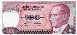 TURKEY 100 LIRA 1984 P-194b  Unc  Serie E30 450328 - Turquie