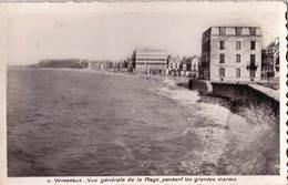 Carte Photo CPSM :Wimereux  (62) Vue De La Plage Aux Grandes Marées  Ed Fauchois N° 5 - Places