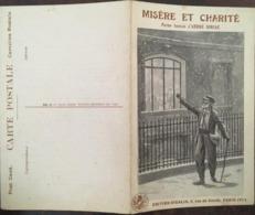 Cpa Double, MISERE Et CHARITE, Poème Humain D'André SORIAC, éd CIGALIA,( Patriotique, Humain), Non écrite - Guerra 1914-18