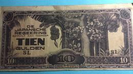 Billet Indes Néerlandaises 10 Gulden - 1944 - Inde