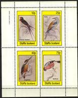 {ST338} Birds XXI Sheet Of 4 MNH** LABEL Cinderella !! - Fantasie Vignetten