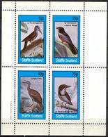 {ST341} Birds XXIII Sheet Of 4 MNH** LABEL Cinderella !! - Fantasie Vignetten