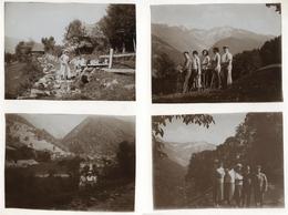 PHOTO ANCIENNE 1929 Pinsot Isère Montagne Groupe Lot 4 Photos Haut-Bréda Belledonne - Places