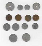 Belgique 14 Pièces De Monnaie De 1927 à 1989 - Unclassified