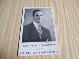 Prince Félix Youssoupoff Auteur De La Fin De Raspoutine. - Personnages Historiques