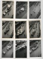 PHOTO ANCIENNE Ommegang ANVERS 1948 Cortège Folklorique Folklore Cavalcade Belgique 9 Photos - Places