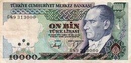 TURKEY 10000 LIRA 1982 P-199c  CIRC. Serie G89  313000 - Turkey