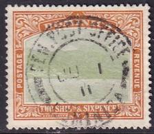 Dominica 1908 SG #45 2sh6d Used Wmk Mult.Crown CA CV £70 - Dominica (...-1978)
