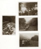 PHOTO ANCIENNE 1931 ALLEVARD LES BAINS Isère Montagne Groupe Famille Lot 4 Photos - Places