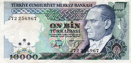 TURKEY 10000 LIRA 1989 P-200a.2  CIRC. XF+ - Turkey