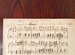 """Partitura Musical Manuscrita """"HYMNO Das SENHORAS PORTUGUESAS"""" Dedicado à Rainha D.MARIA PIA De SABOYA. 1877 Portugal - Scores & Partitions"""