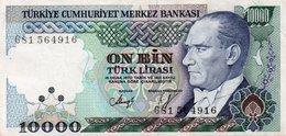 TURKEY 10000 LIRA 1982 P-199c  CIRC. XF+ - Turkey