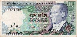TURKEY 10000 LIRA 1984 P-199d  CIRC. XF+ - Turkey