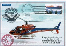 Carte South 2009 Helicoptere At Back Deep Freeze South Pole Postal Service - Francobolli