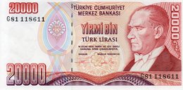 TURKEY 20000 LIRA 1995 P-202  UNC  G81 118611 - Turkey