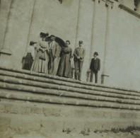 USA Salt Lake City Temple Mormon Exterieur Groupe Posant Ancienne Photo 1904 - Places