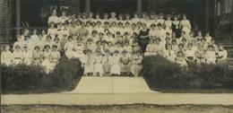 USA Boston Groupe De Collegiennes Ecole Panorama Ancienne Photo 1904 - Places