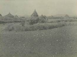 Algerie Scene A La Campagne Greniers A Grains? Ancienne Photo 1930 - Places