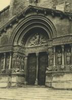 France Arles Cathédrale Sainte Trophime Ancienne Photo 1947 - Places
