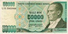 TURKEY 50000 LIRA 1995 P-204  CIRC, - Turkey