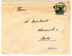 Entier Postal Allemand Bureau Jerusalem 5 Centimes Pour Berlin 1915 - Germany