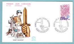 FDC France 1981 - Centenaire De L'école Militaire De Saint Maixent  - YT 2140 - 79 Saint Maixent L'ecole - 1980-1989