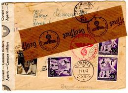 Lettre Recommandée De Drohobycz (16.01.1942) Pour Giswill, Zuzustellen, Double Censure Suisse Et Allemande - Allemagne