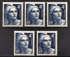 FRANCE 1945 - Y.T. N° 725 X 5  -  NEUFS** - Nuovi