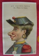 Chromo Au Gagne-petit, A Schulle, Paris. Chromo Image. Vers 1880-1890. Mercerie. Caricature Soldat - Otros