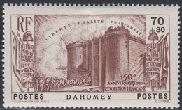 Dahomey, Scott #B4, Mint Hinged, French Revolution, Issued 1939 - Dahomey (1899-1944)