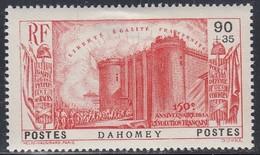 Dahomey, Scott #B5, Mint Hinged, French Revolution, Issued 1939 - Dahomey (1899-1944)
