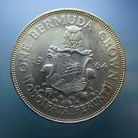 Bermuda 1 Crown 1964 Silver - Bermudes