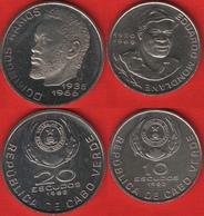Cape Verde Set Of 2 Coins: 10 - 20 Escudos 1982 UNC - Cap Vert